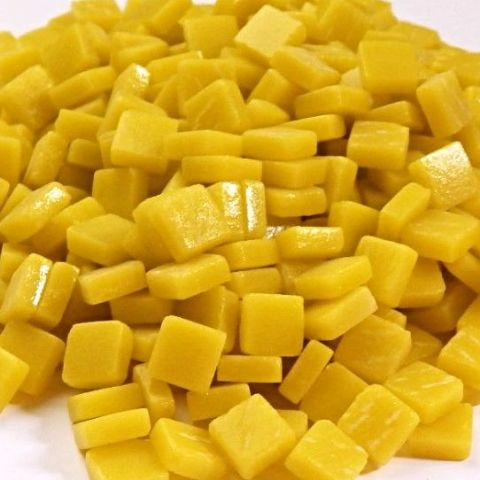 8mm Square Tiles - Lemon Matte - 50g